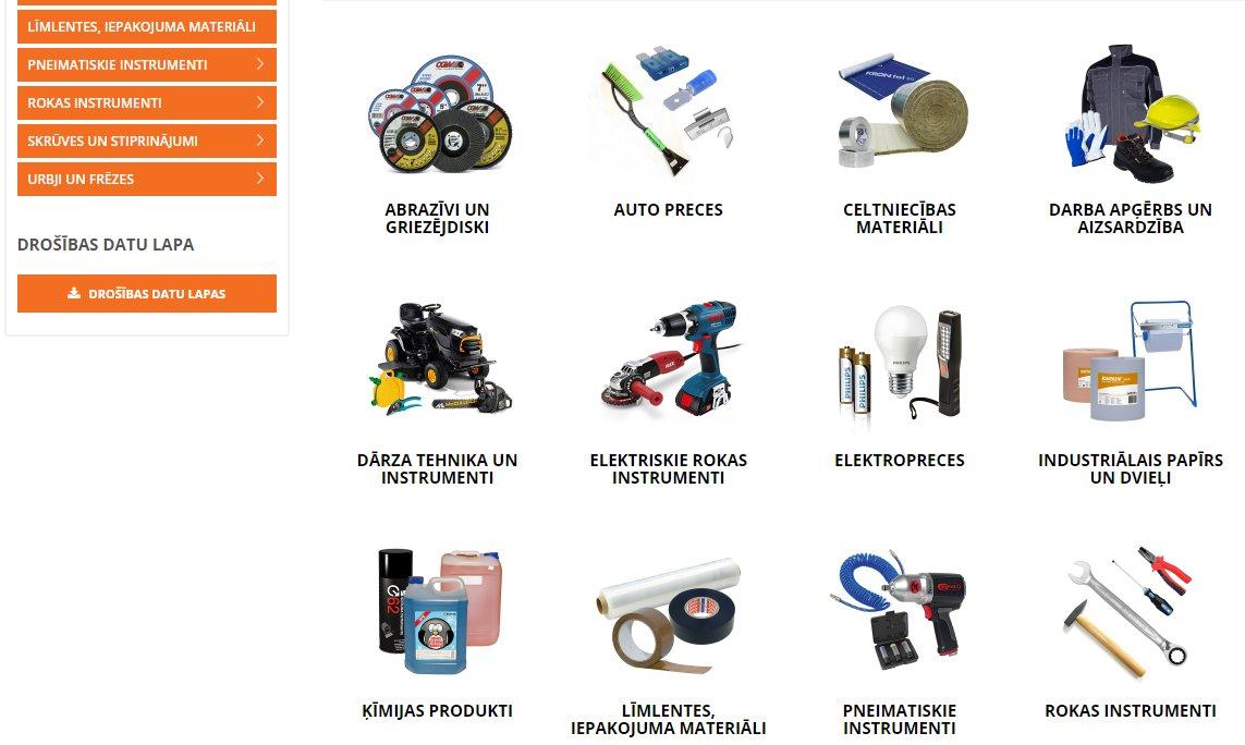 E-komercijas risinājums uzņēmuma preču kataloga vienkāršotākai uzturēšanai