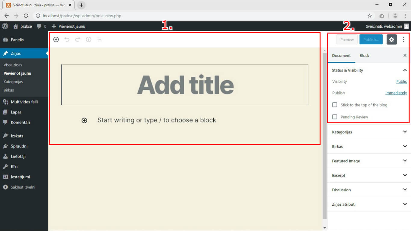 wordpress-funkcionalitate-pievienot-jaunu-rakstu-kebbeit