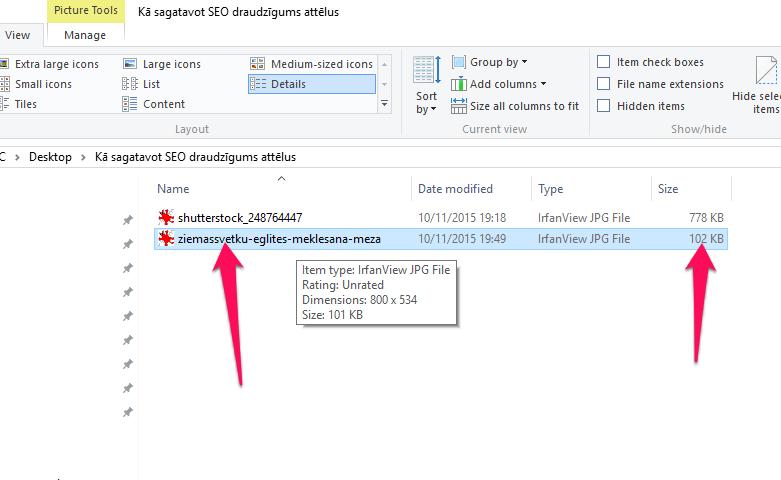 Attēlu failu nosaukumos jāievieto atbilstošie atlēgvārdi