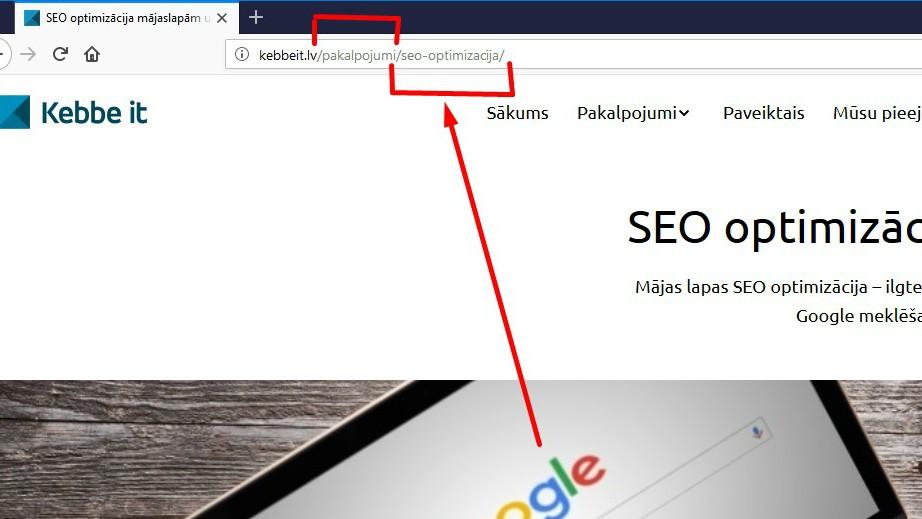 Mājaslapā veidojot sadaļas, ir svarīgi tās strukturēt ne tikai vizuāli navigācijas līmenī, bet arī tehniski
