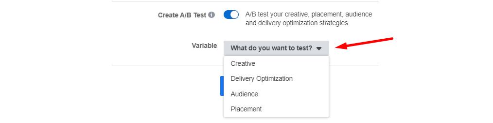 Facebook piedāvā iespēju ļoti vienkārši testēt ab testēšanu