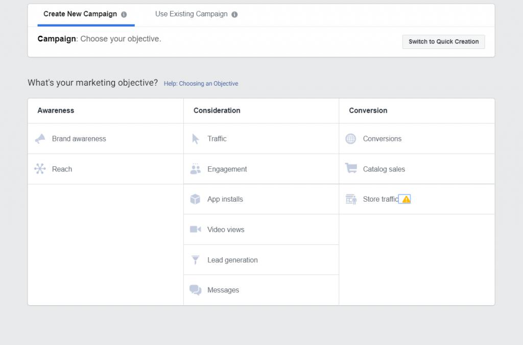 Facebook reklāmas pārvaldnieka jeb Facebook Ads manager mērķ uzstādīšana
