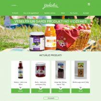 ZS Jāņkalni produktu kataloga mājaslapa ir veidota uz WordPress uz WooComerce bāzes