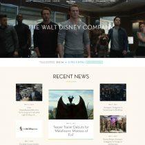Mājas lapa The Walt Disney Company ir veidota uz WordPress bāzes