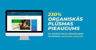 GK Neiroklīnikas mājaslapas izstrādes gadījuma analīze
