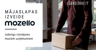 Mozello ir labs riisnājums mazajiem uzņēmumiem, kam uzreiz nav naudas lielai mājaslapai