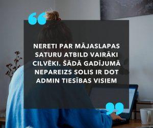Admin un redaktora tiesības mājaslapā - kam ko piešķirt?