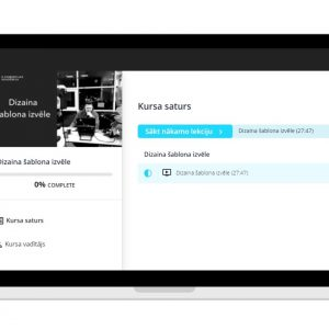 Online lekcija dizaina šablona izvēle