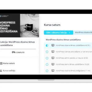 Online lekcija - WordPress dizaina tēmas uzstādīšana