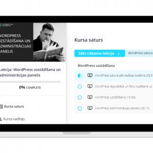 Online lekcijas WordPress uzstādīšana un administrācijas panelis